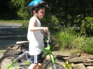 Here's Daniel, freshly free of training wheels.
