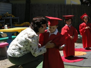 """James at his daycare """"graduation"""""""
