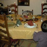 A several-years-ago Thanksgiving table.