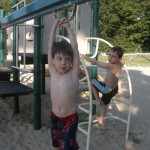 My boys last summer, at a local (safe!) beachside playground.