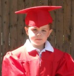 "James, at daycare ""graduation,"" circa 2008"