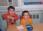 James (left) and his buddy Ben, when they were in daycare together, guilt-free.