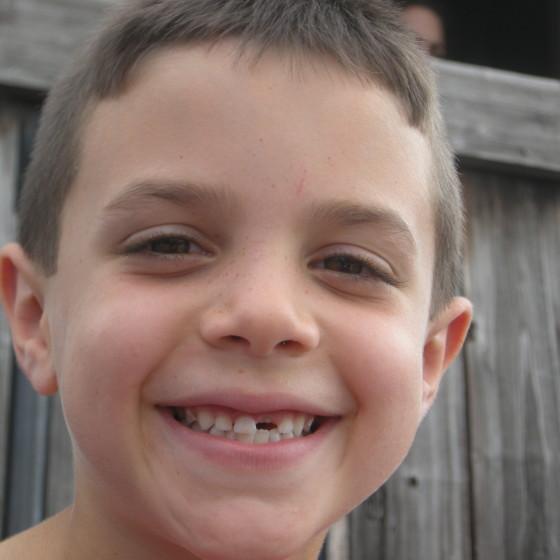 James, last August, when his hair was super-short.